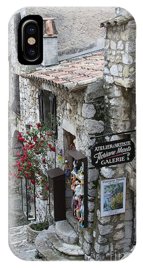 Middle Ages IPhone X Case featuring the photograph Eze Village by Maureen J Haldeman