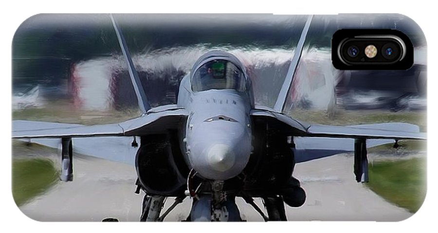 Hornet IPhone X Case featuring the photograph F18 Hornet 002 by Philip Rispin