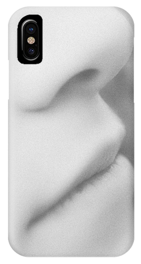 Face IPhone X Case featuring the photograph Facial Curves - Black And White by Natalie Kinnear