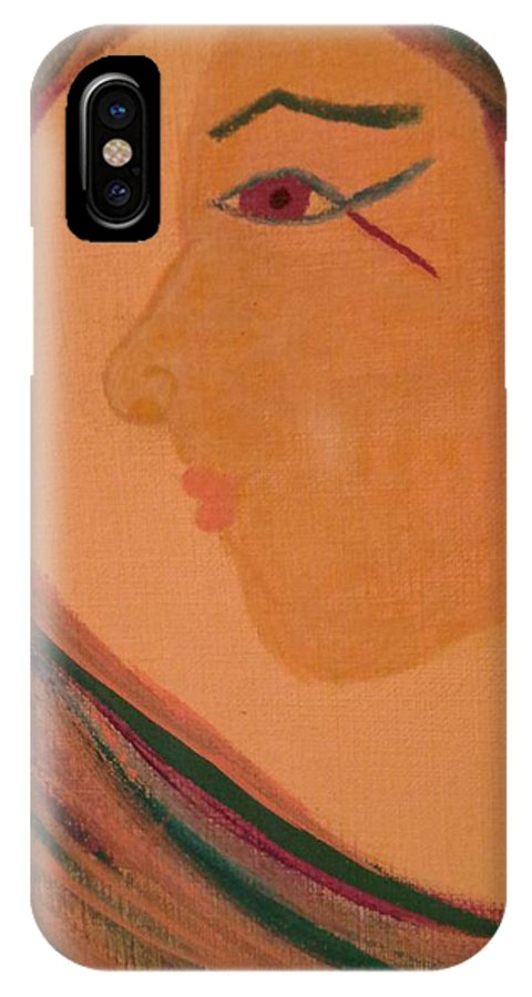 Mermaids IPhone X Case featuring the painting Facing The Wave 5 by Erica Darknell