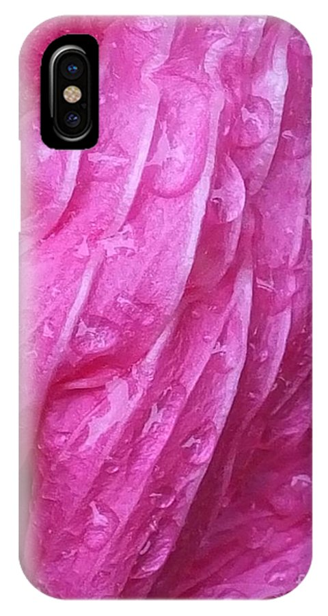 Magenta IPhone X Case featuring the photograph Faded Blossom by Lizi Beard-Ward