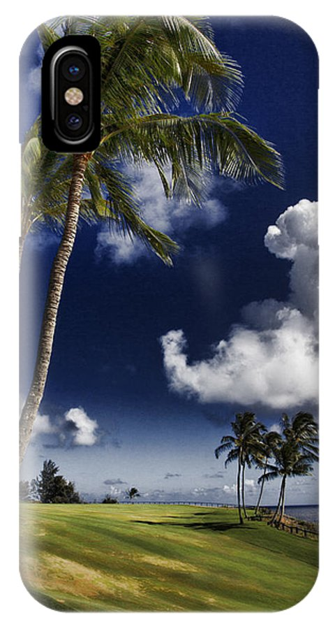 Seafront IPhone X Case featuring the photograph Fairway In Paradise V2 by Douglas Barnard
