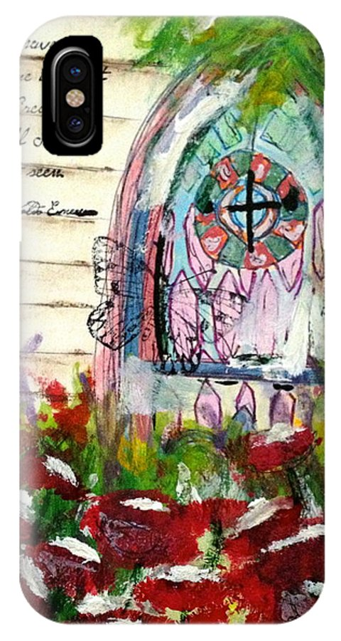 Christian IPhone X Case featuring the painting Faith by Tina Tieman