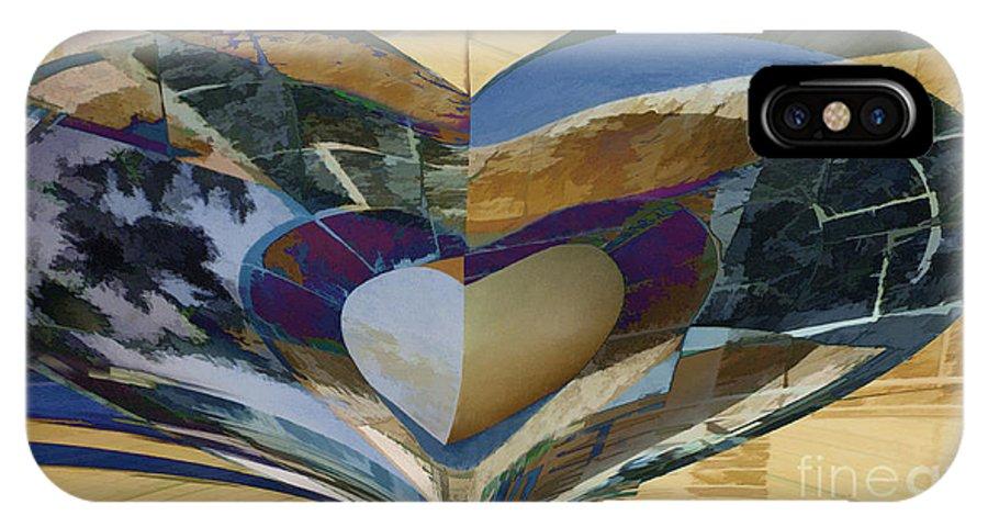Faithful IPhone X Case featuring the digital art Faithful Heart by Ursula Freer