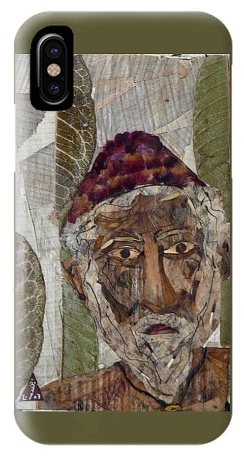 Portrait.holy Person Portrait IPhone X Case featuring the mixed media Fakeer by basant Soni