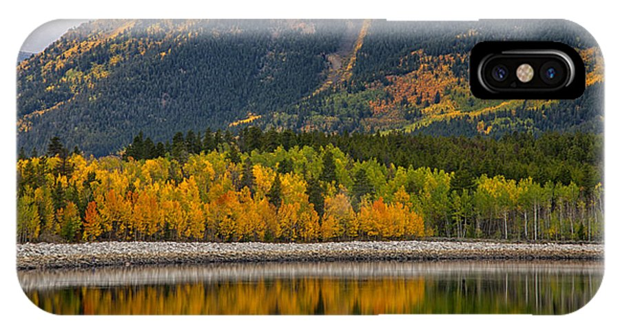 Fall IPhone X Case featuring the photograph Fall Along The Forebay by Morris McClung