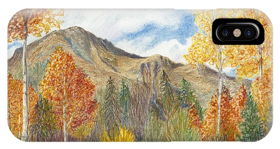 Fall IPhone X Case featuring the painting Fall Aspens by Phyllis Howard
