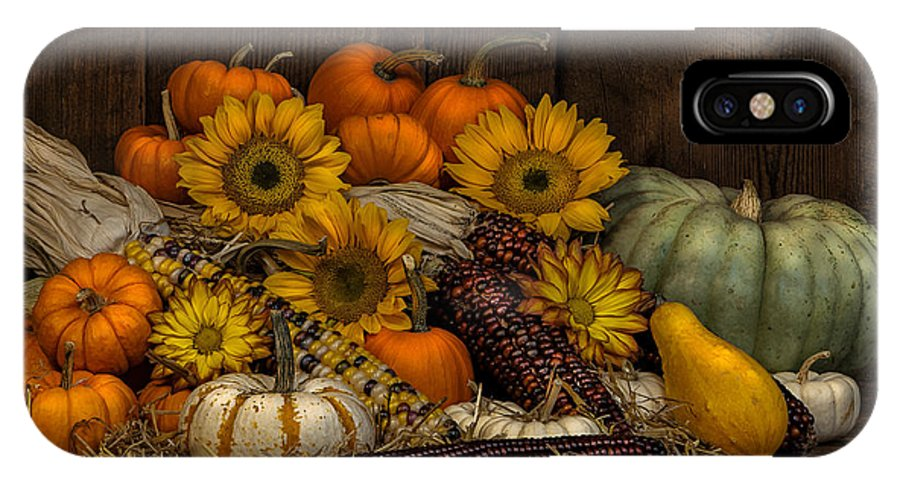 Corn IPhone X Case featuring the photograph Fall Assortment by Randy Walton