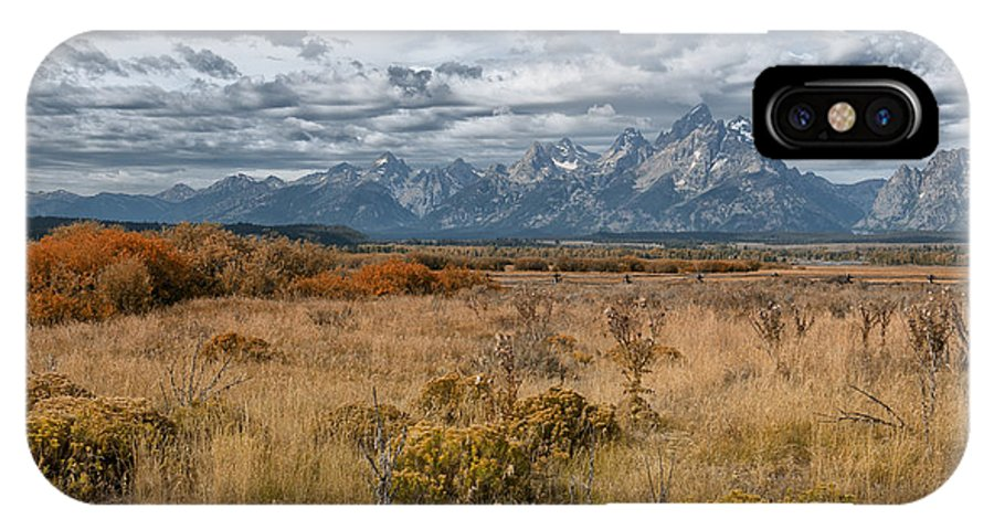 Grand Teton IPhone X Case featuring the photograph Fall Beauty by Sandra Bronstein
