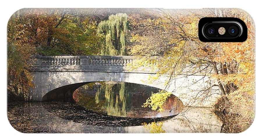 Bridge IPhone X Case featuring the photograph Fall Bliss by Christina Adams