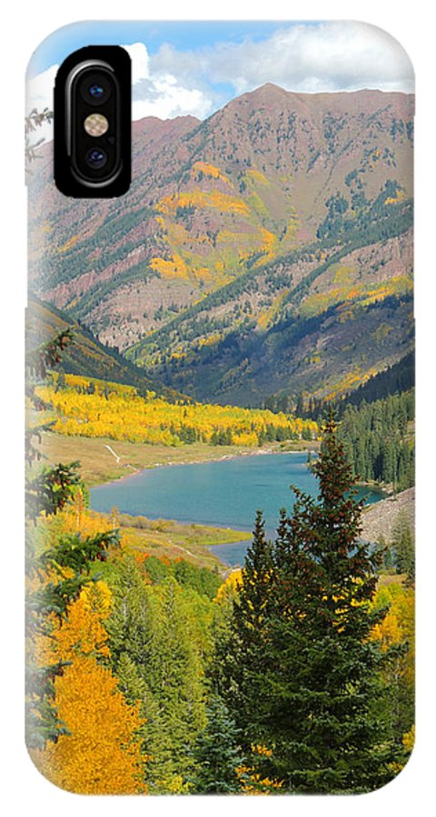 Aspen IPhone X Case featuring the photograph Fall Colors At Maroon Lake by Steve Anderson