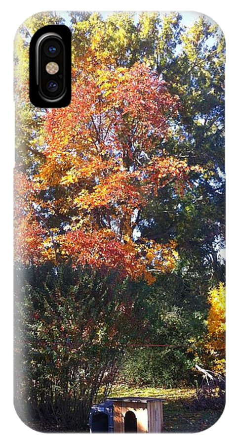 Trees IPhone X Case featuring the photograph Fall Colors by Melissa Driver