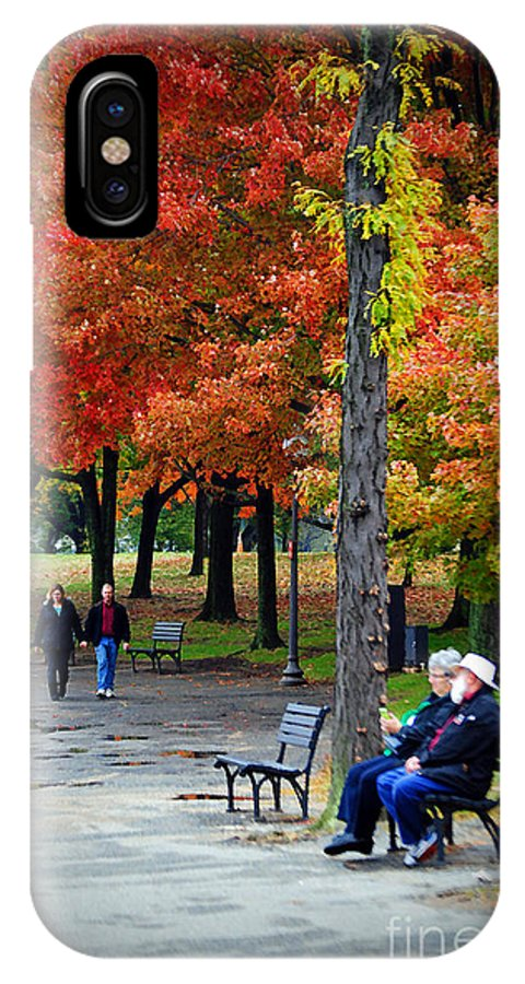 Fall IPhone X Case featuring the photograph Fall Couples by Jost Houk