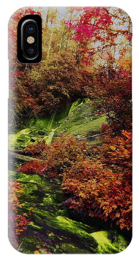North Carolina IPhone X Case featuring the photograph Fall Creek Fastasy by Annette Allman