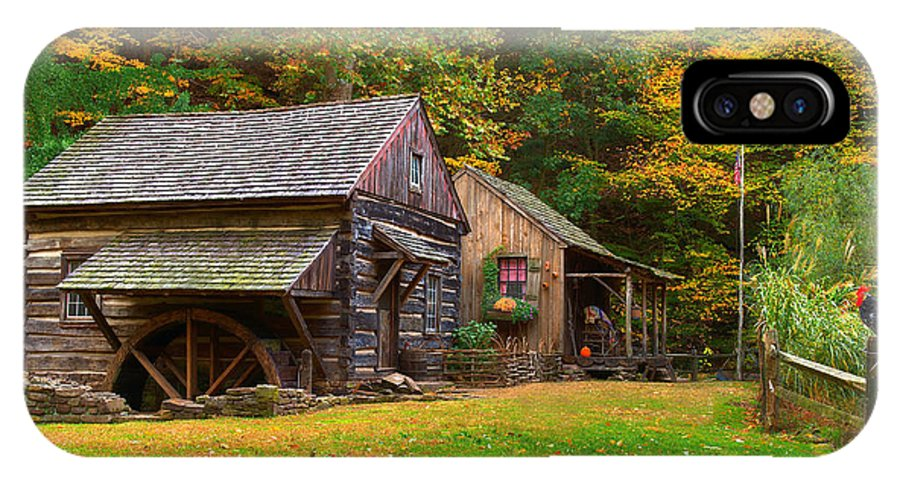 Farm IPhone X Case featuring the photograph Fall Down On The Farm by William Jobes