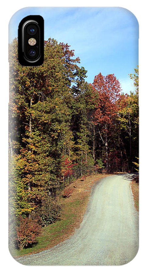 Road IPhone X Case featuring the photograph Fall Drive Thru by Rhonda Burger
