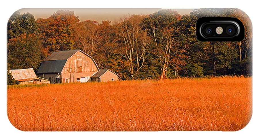 Farm IPhone X Case featuring the photograph Fall Farm by Marian DeSalvo-Rodgers