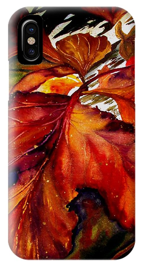 Autumn IPhone X / XS Case featuring the painting Autumn Dressage by Lil Taylor