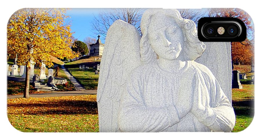 Angels IPhone X Case featuring the photograph Fall In Angel by Ed Weidman