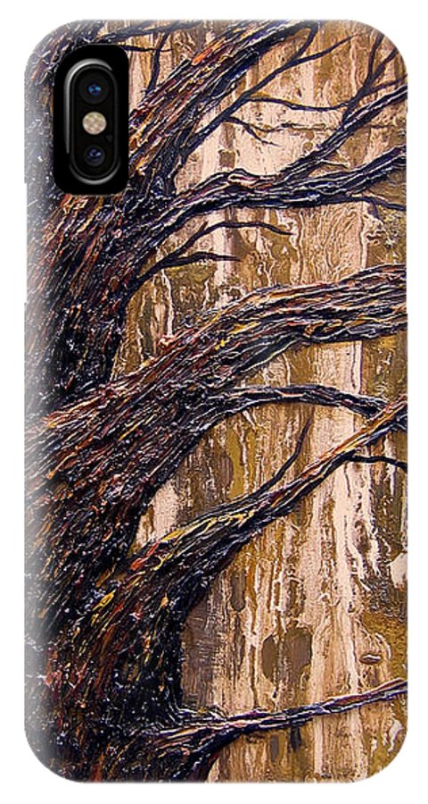 Trees IPhone X / XS Case featuring the painting Fall by Kim Wild