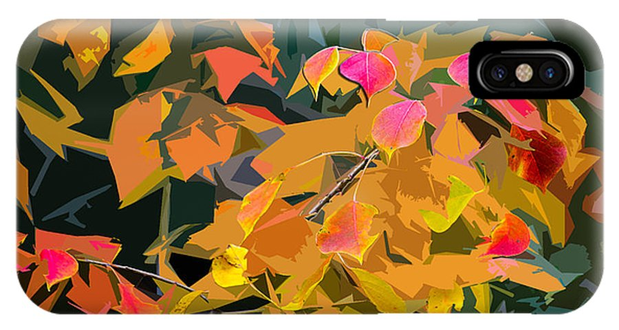 Cut Out IPhone X Case featuring the photograph Fall Leaves by David Fishter