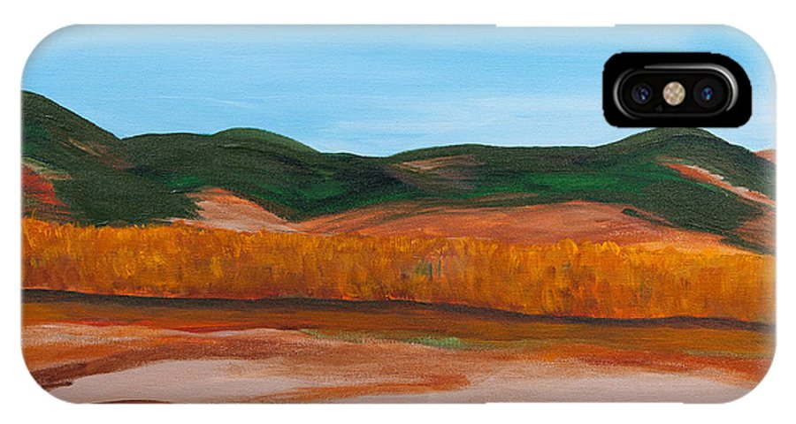 Marsh IPhone X Case featuring the painting Fall Marsh by Buddy Cushman