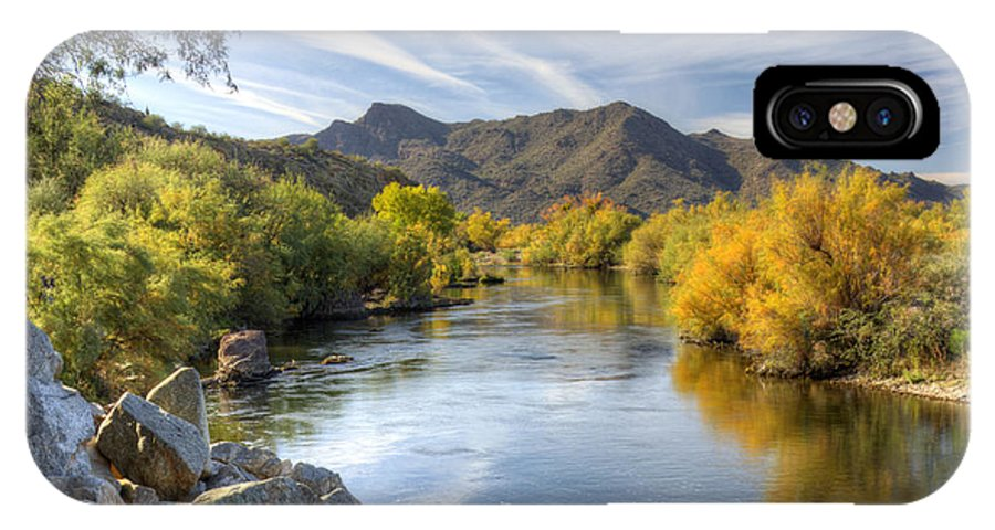 Fall IPhone X Case featuring the photograph Fall On The Salt River by Saija Lehtonen