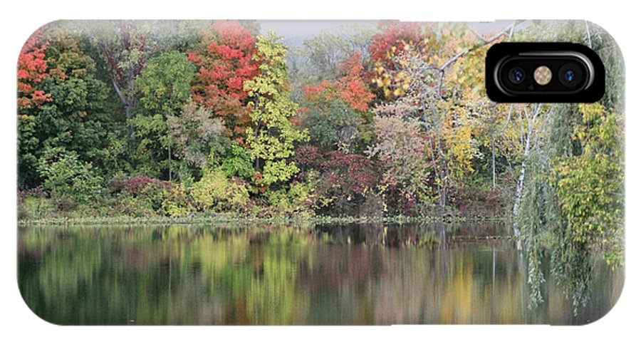 Nature IPhone X Case featuring the photograph Fall Reflections by Mike Dickie