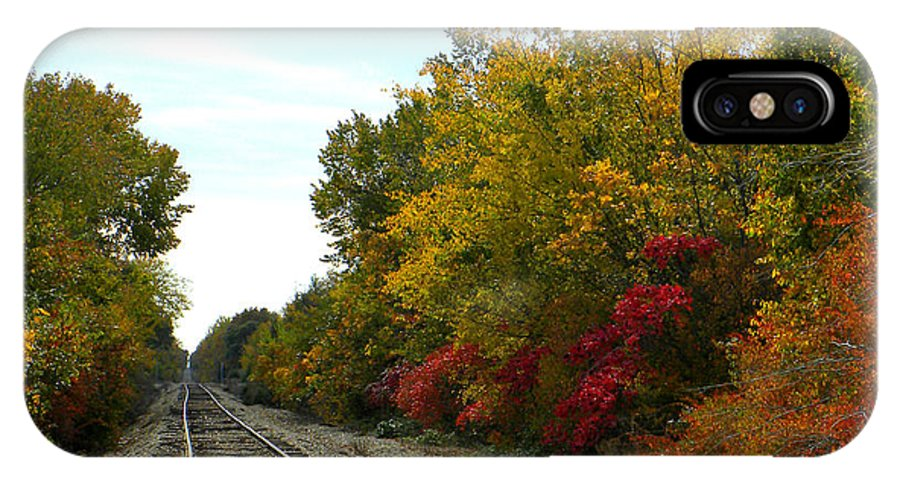 Fall IPhone X Case featuring the photograph Fall Tracks by Tisha Clinkenbeard