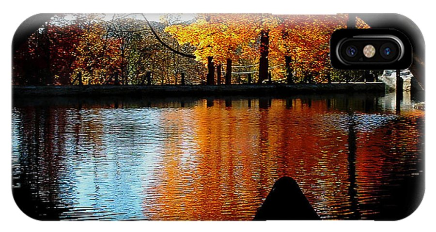 Fall IPhone X Case featuring the photograph Fall Under The Bridge by Tanya Hamell