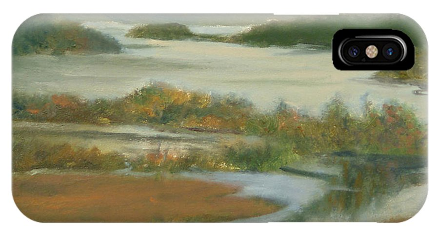 Boscobel IPhone X Case featuring the painting Fall View From Boscobel by Phyllis Tarlow