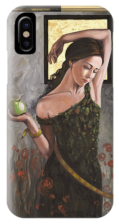 Eve IPhone X Case featuring the painting Fallen Eve by Ann Marie Campbell