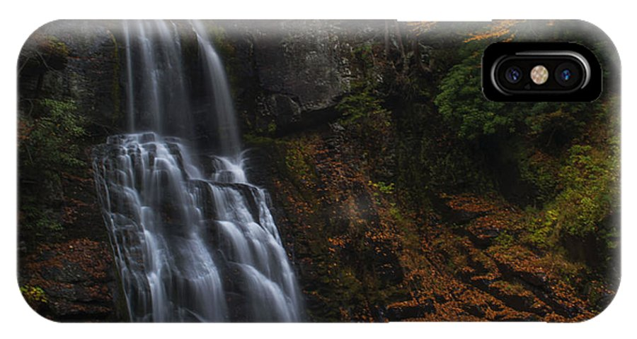 Waterfall IPhone X / XS Case featuring the photograph Falling by Ashley Hall