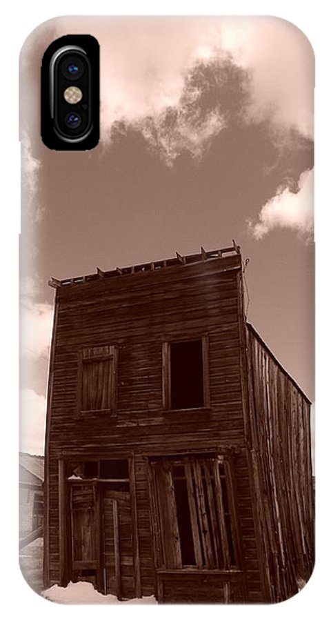 Bodie IPhone X Case featuring the photograph Falling In Bodie by Gwendolyn Barnhart