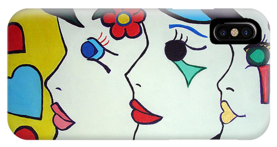 Pop Art IPhone Case featuring the painting Falling In Love by Silvana Abel