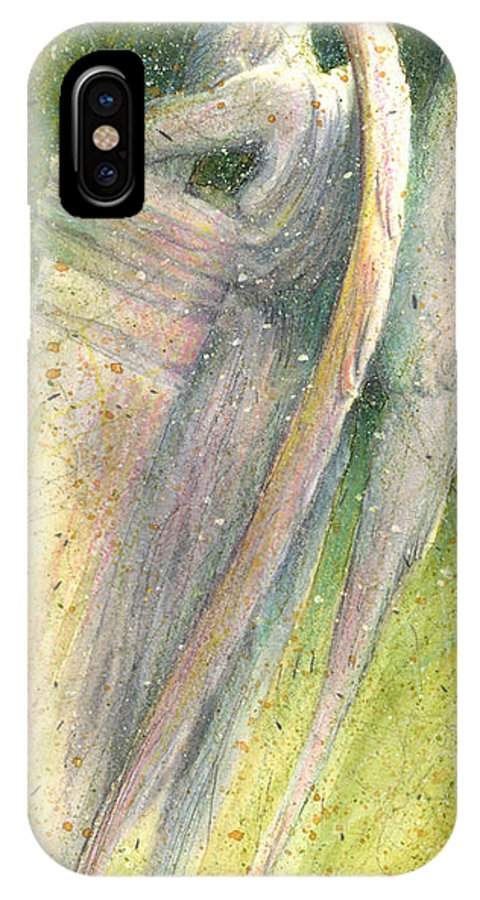 Angel IPhone X Case featuring the painting Falling by Rocky Kelley