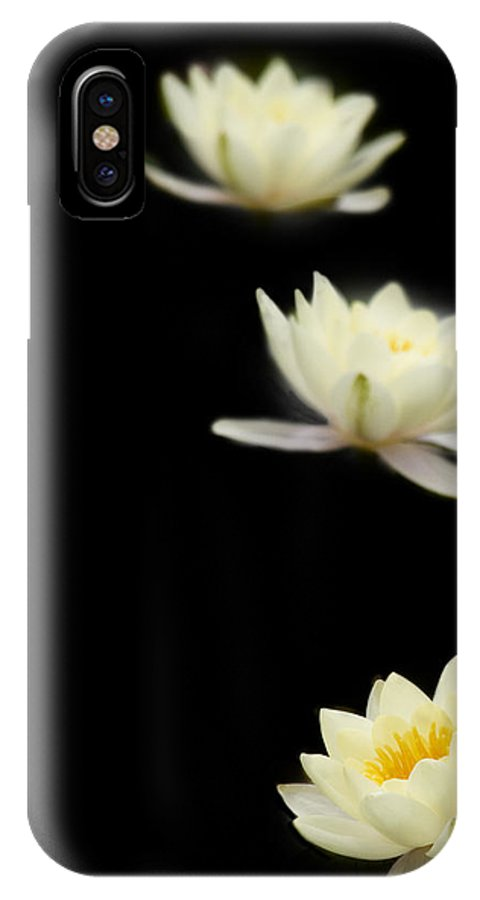 Water Lily IPhone X Case featuring the photograph Falling Stars by Rebecca Cozart