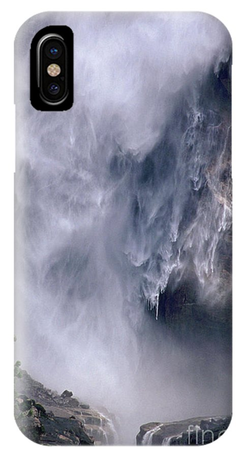 Waterfall IPhone X Case featuring the photograph Falling Water by Kathy McClure