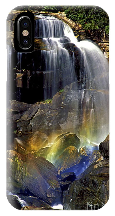 Whitewater Falls IPhone X Case featuring the photograph Falls And Rainbow by Paul W Faust - Impressions of Light