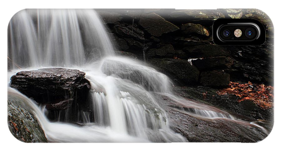 Waterfall IPhone X / XS Case featuring the photograph Falls At Melville by Andrew Pacheco