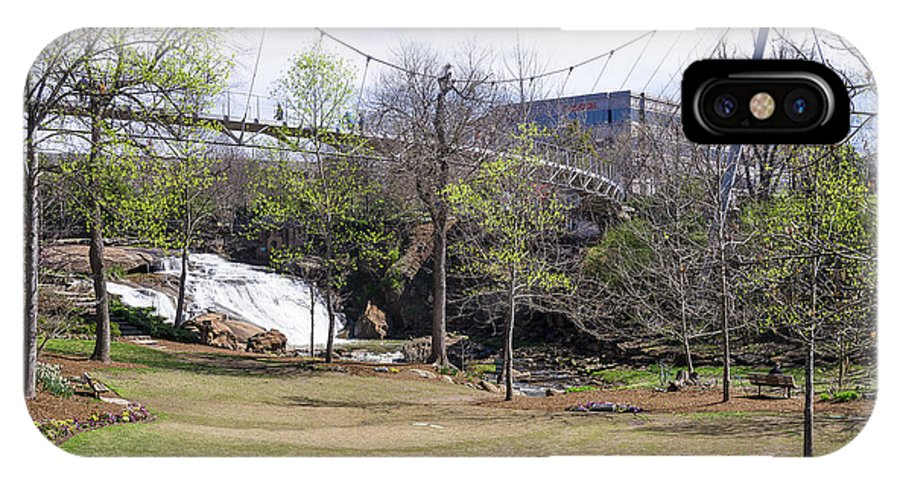 Falls Park IPhone X Case featuring the photograph Falls Park On The Reedy Greenville by Steven Ralser