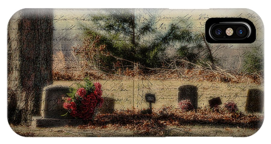 Family IPhone X Case featuring the photograph Family Plot Orton Style by Kathy Clark