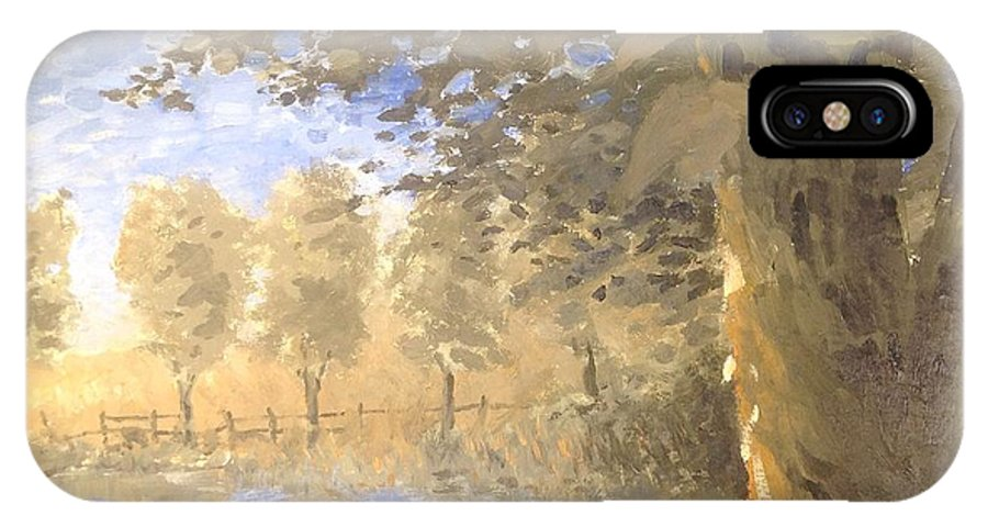 Landscape IPhone X Case featuring the painting Family Trees by Timothy H Mills