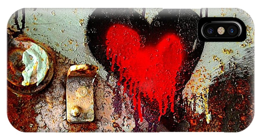 Abstract IPhone X Case featuring the photograph Fanatic Heart by Lauren Leigh Hunter Fine Art Photography