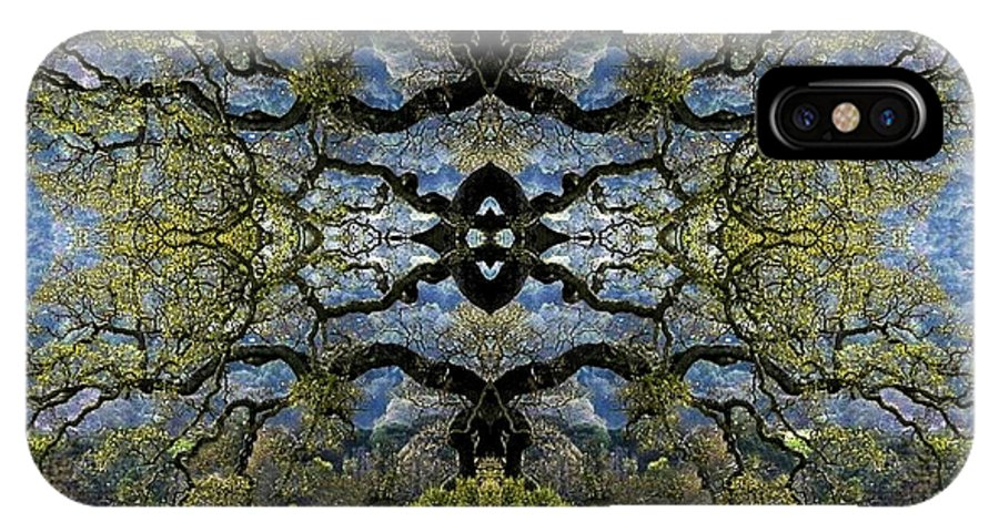 Digital Art IPhone X Case featuring the digital art Fantasy Tree by William Durfey
