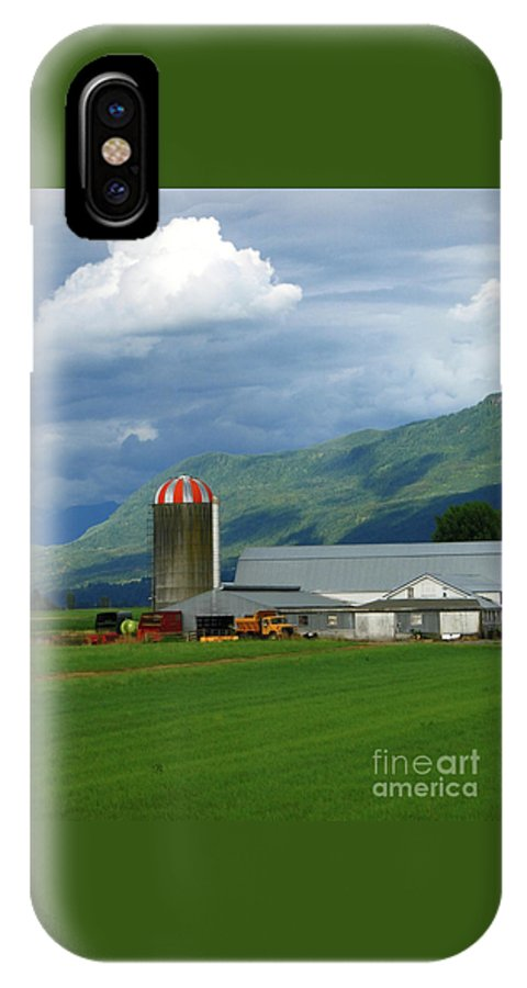 Farm IPhone X Case featuring the photograph Farm in the Valley by Ann Horn