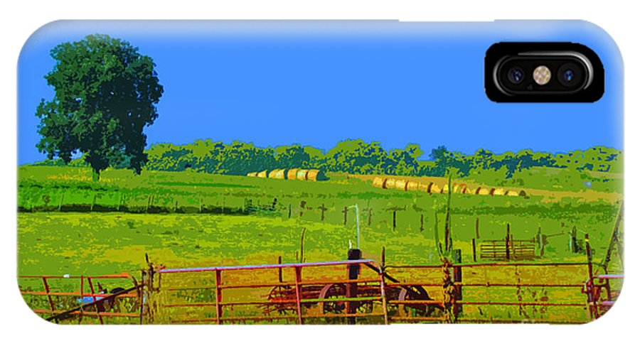 Farm IPhone X Case featuring the photograph Farm Photo Digital Paint Style by Minding My Visions by Adri and Ray