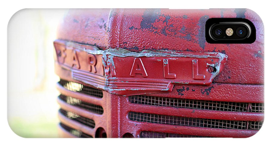 IPhone X Case featuring the photograph Farmall by Todd Blanchard