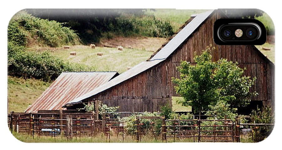 Barn IPhone X / XS Case featuring the photograph Farming by Kathy Sampson