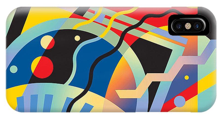 Jazz Interpretation IPhone X Case featuring the digital art Fascinating Rhythm 5 by David Chestnutt